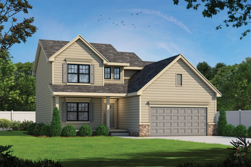 Home Plan - Traditional Exterior - Front Elevation Plan #20-2397