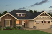 Craftsman Style House Plan - 3 Beds 2 Baths 1445 Sq/Ft Plan #943-48 Exterior - Front Elevation