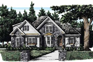 Country Exterior - Front Elevation Plan #927-282