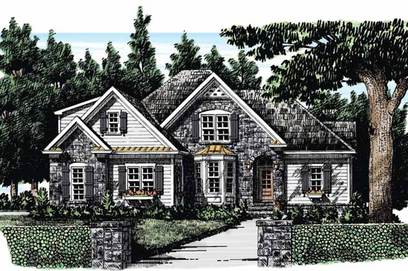 House Plan Design - Country Exterior - Front Elevation Plan #927-282