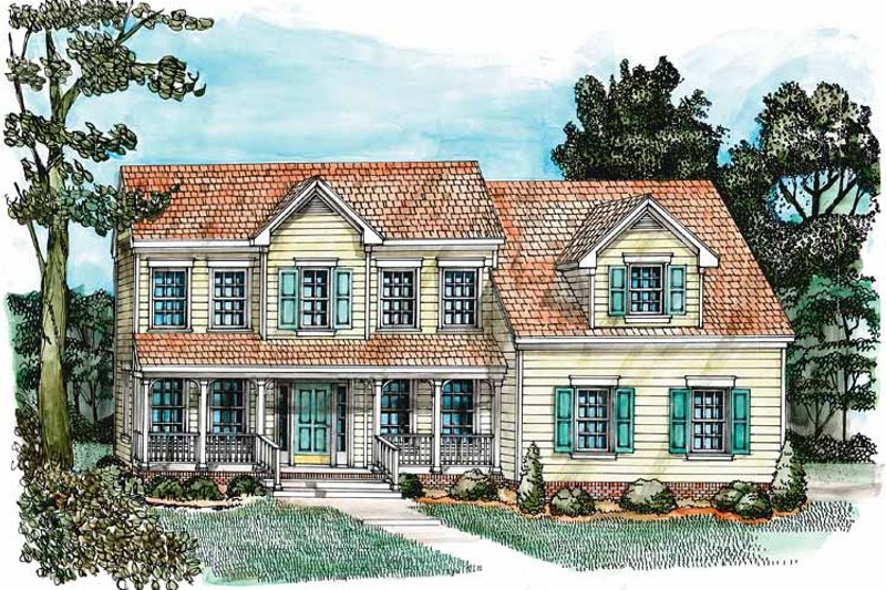 Country Exterior - Front Elevation Plan #1055-1 - Houseplans.com