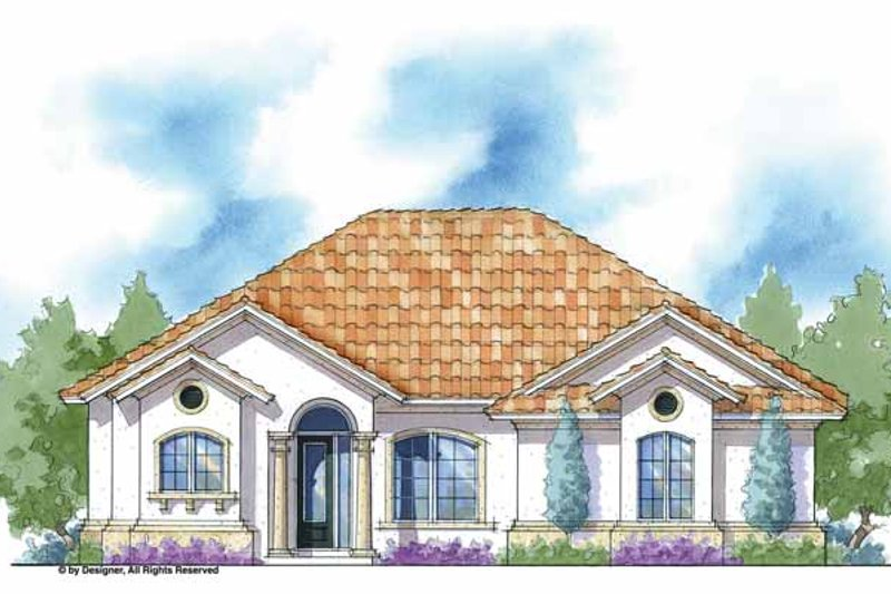 House Plan Design - Mediterranean Exterior - Front Elevation Plan #938-23