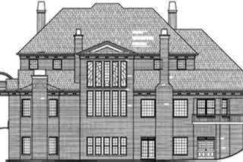 Colonial Exterior - Rear Elevation Plan #119-161 - Houseplans.com