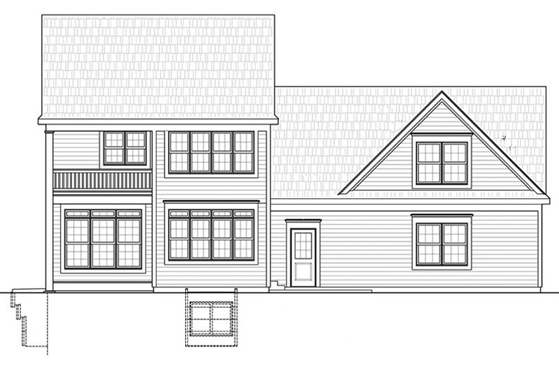 Colonial Exterior - Rear Elevation Plan #20-2248 - Houseplans.com