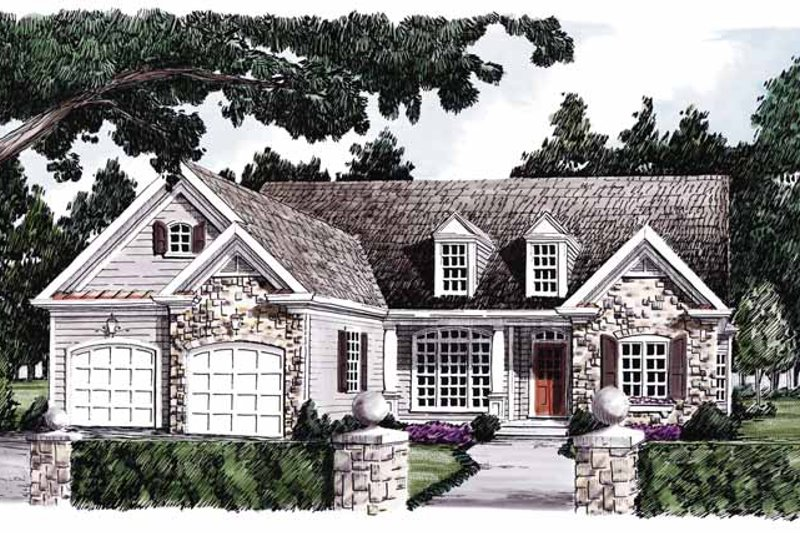 Country Exterior - Front Elevation Plan #927-584