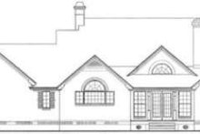 Southern Exterior - Rear Elevation Plan #406-172