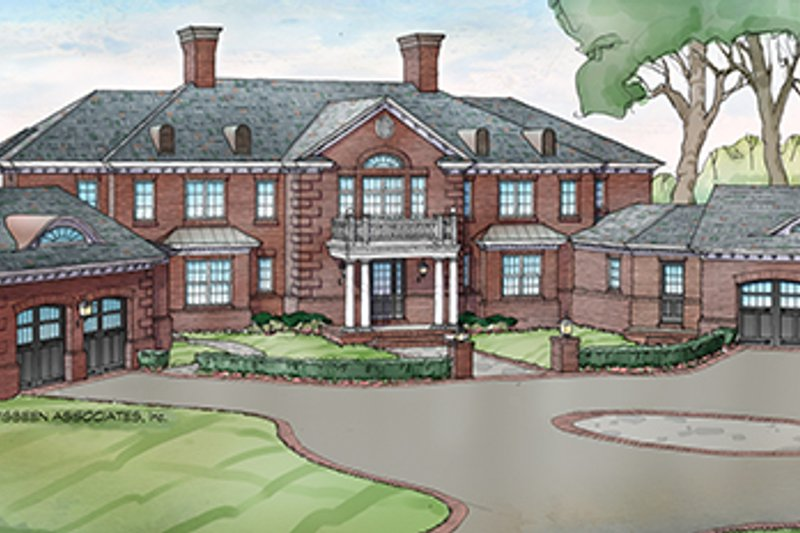 Classical Exterior - Front Elevation Plan #928-256