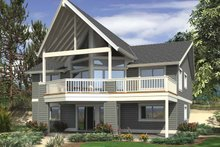 House Plan Design - Contemporary Exterior - Rear Elevation Plan #132-541