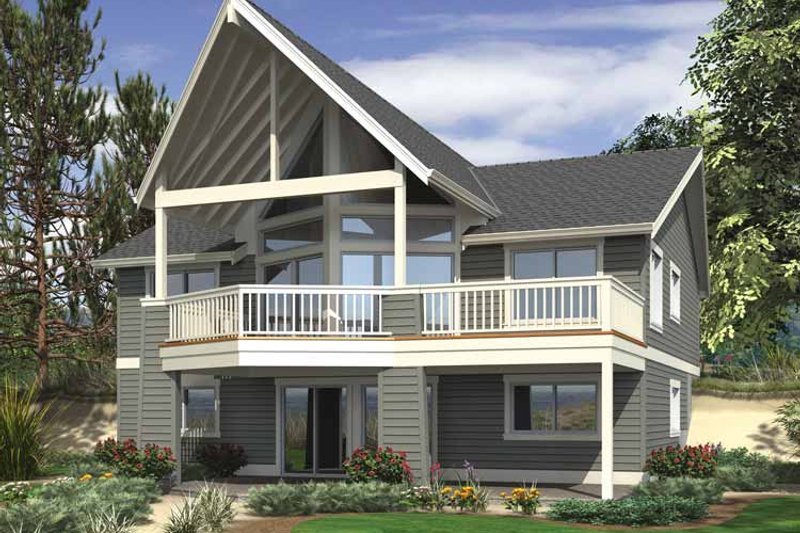 Contemporary Exterior - Rear Elevation Plan #132-541 - Houseplans.com