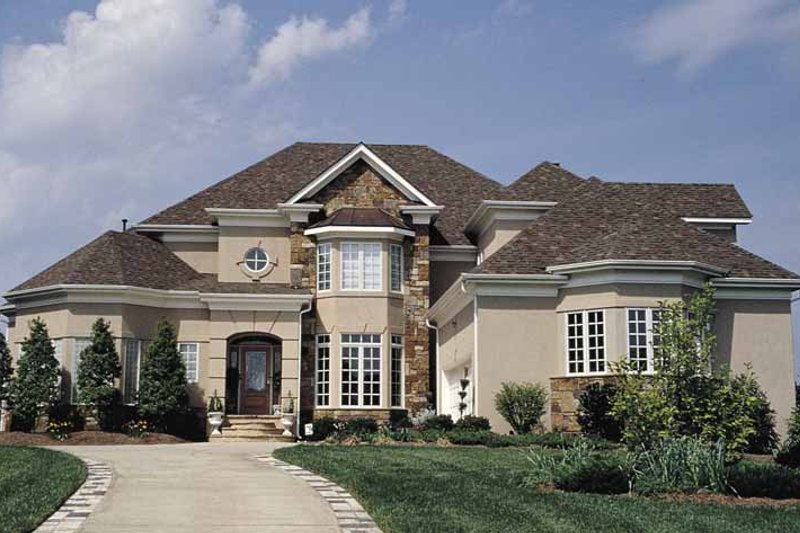Mediterranean Exterior - Front Elevation Plan #453-126 - Houseplans.com