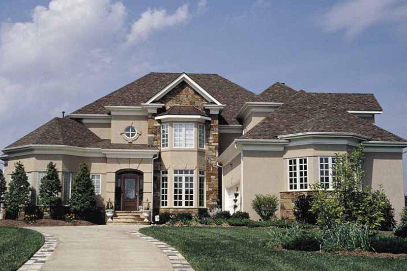 Dream House Plan - Mediterranean Exterior - Front Elevation Plan #453-126