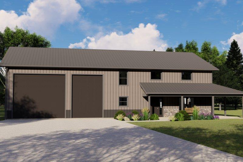 Home Plan - Farmhouse Exterior - Front Elevation Plan #1064-111