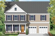 Architectural House Design - Colonial Exterior - Front Elevation Plan #1053-54