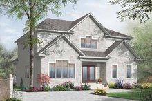 European Exterior - Front Elevation Plan #23-2373