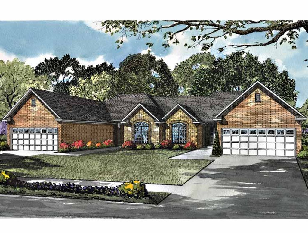 Ranch style house plan 2 beds 2 baths 1398 sq ft plan for Www homeplans com