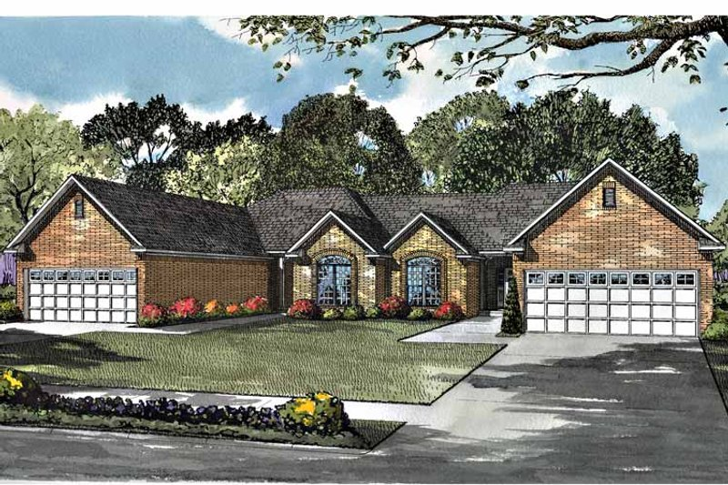 Ranch Exterior - Front Elevation Plan #17-2977 - Houseplans.com