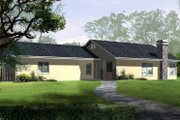 Traditional Style House Plan - 3 Beds 2 Baths 1303 Sq/Ft Plan #1-229 Exterior - Front Elevation