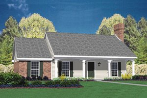 Ranch Exterior - Front Elevation Plan #36-103