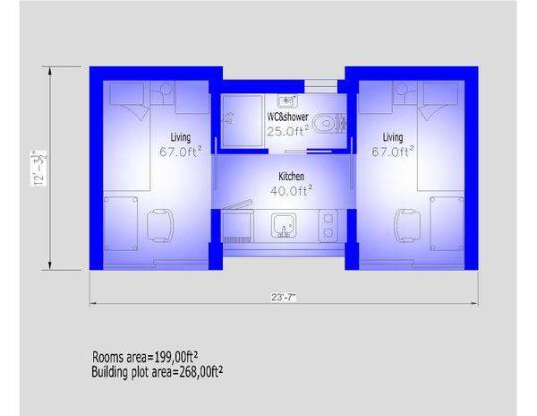 Modern Floor Plan - Main Floor Plan #549-32
