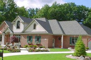 Traditional Exterior - Front Elevation Plan #49-125