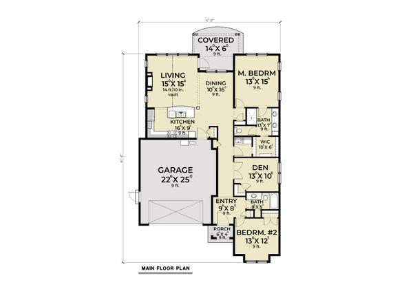 Architectural House Design - Cottage Floor Plan - Main Floor Plan #1070-123