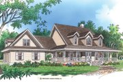 Country Style House Plan - 4 Beds 3.5 Baths 3037 Sq/Ft Plan #929-22 Exterior - Front Elevation