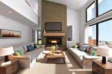 Contemporary Interior - Family Room Plan #48-1009