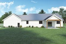 House Plan Design - Farmhouse Exterior - Rear Elevation Plan #1070-140