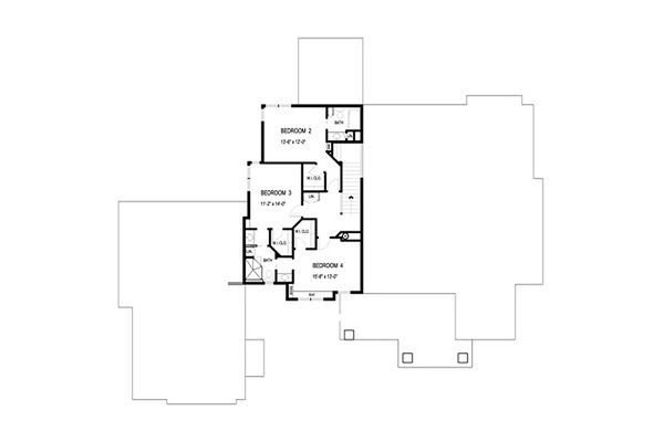 Craftsman Floor Plan - Upper Floor Plan Plan #56-592