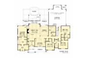Ranch Style House Plan - 4 Beds 3.1 Baths 2512 Sq/Ft Plan #929-1059 Floor Plan - Main Floor