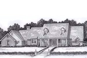 Colonial Exterior - Front Elevation Plan #310-915