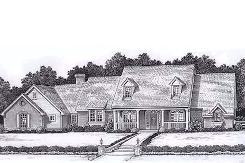 Colonial Style House Plan - 4 Beds 3.5 Baths 3064 Sq/Ft Plan #310-915 Exterior - Front Elevation