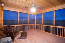 Screened porch photo of Craftsman style home