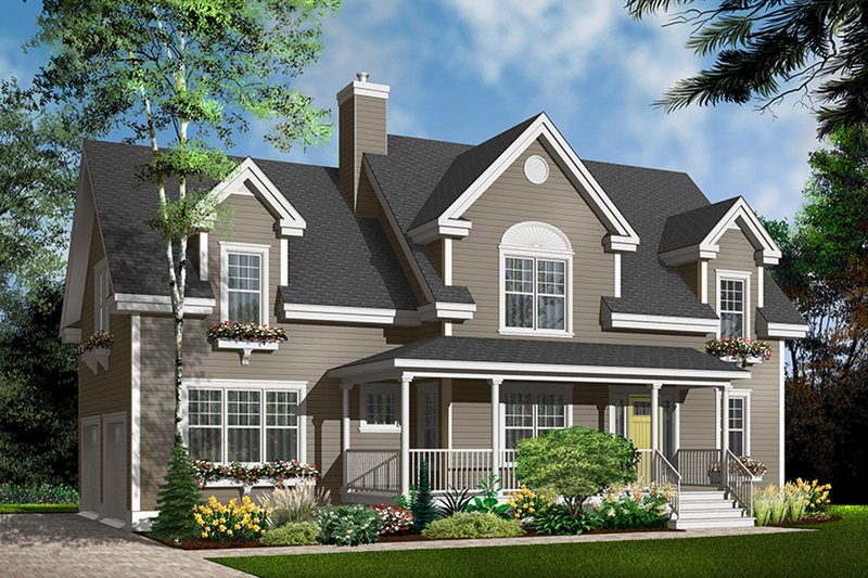 Home Plan - Country Exterior - Front Elevation Plan #23-627
