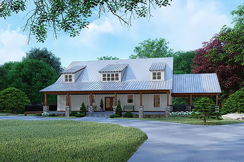 Architectural House Design - Country Exterior - Front Elevation Plan #923-126