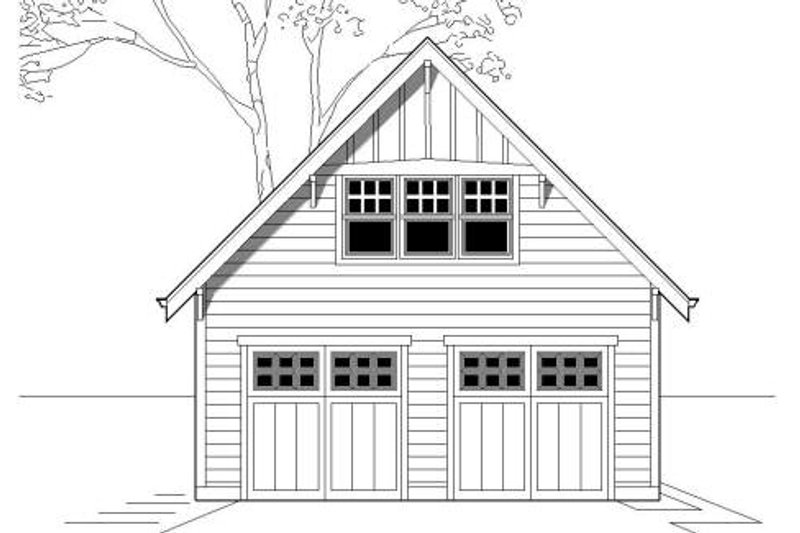 Craftsman Style House Plan - 0 Beds 0 Baths 336 Sq/Ft Plan #423-19 Exterior - Front Elevation