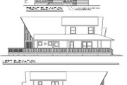 Contemporary Style House Plan - 3 Beds 2 Baths 1844 Sq/Ft Plan #124-456 Exterior - Rear Elevation