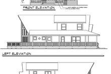 Contemporary Exterior - Rear Elevation Plan #124-456