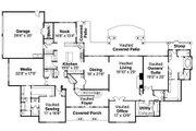 European Style House Plan - 3 Beds 3.5 Baths 6168 Sq/Ft Plan #124-782 Floor Plan - Main Floor Plan