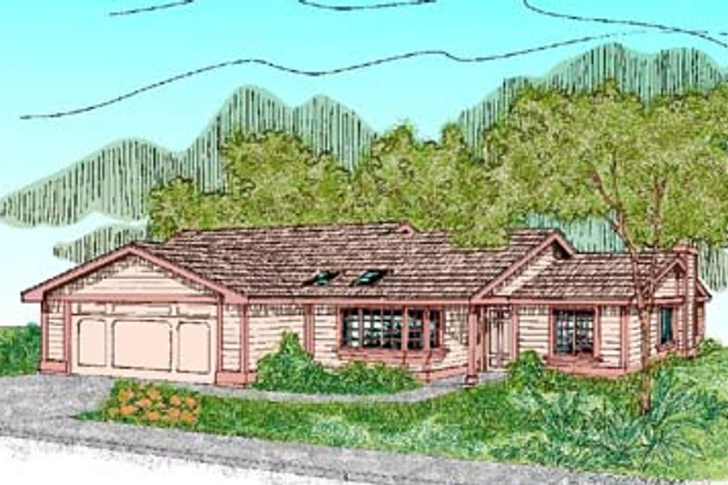Ranch Exterior - Front Elevation Plan #60-455 - Houseplans.com