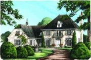 European Style House Plan - 4 Beds 3 Baths 3408 Sq/Ft Plan #137-117 Exterior - Other Elevation