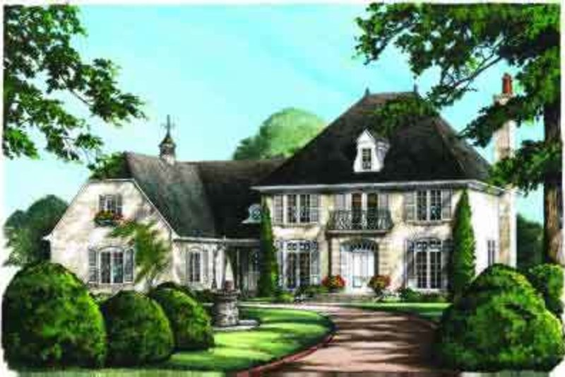 European Exterior - Other Elevation Plan #137-117 - Houseplans.com