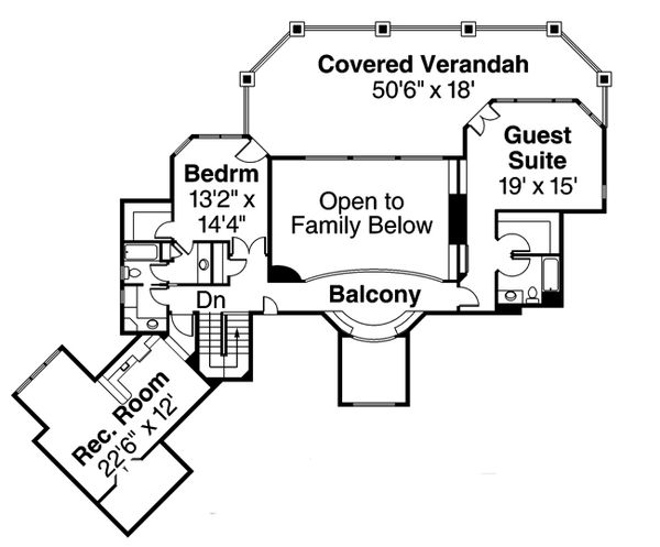 Floor Plan - Upper Floor Plan Plan #124-884