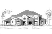 Colonial Style House Plan - 4 Beds 4.5 Baths 6600 Sq/Ft Plan #411-119 Exterior - Front Elevation