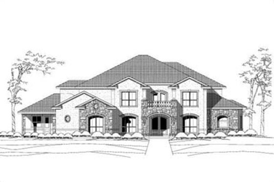 Colonial Exterior - Front Elevation Plan #411-119