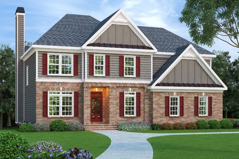 Home Plan - European Exterior - Front Elevation Plan #419-187