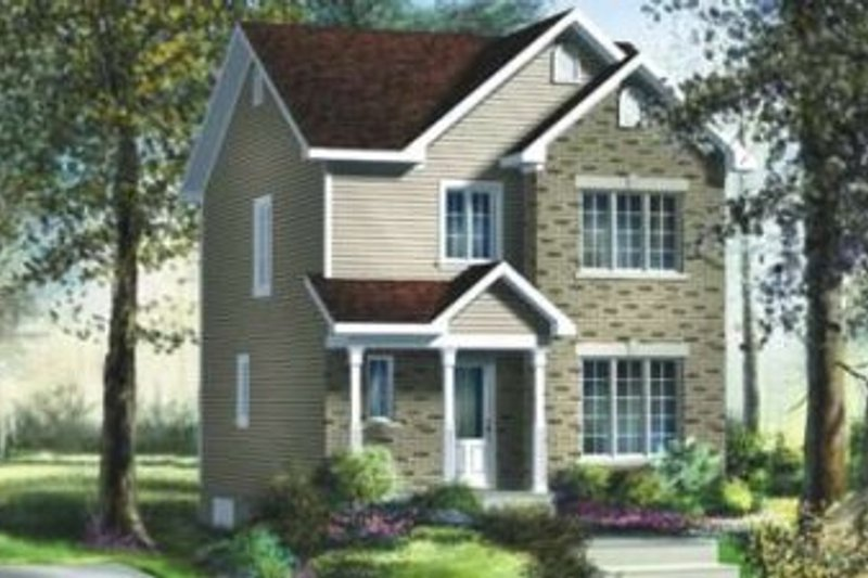 Traditional Style House Plan - 3 Beds 1.5 Baths 1200 Sq/Ft Plan #25-4022 Exterior - Front Elevation