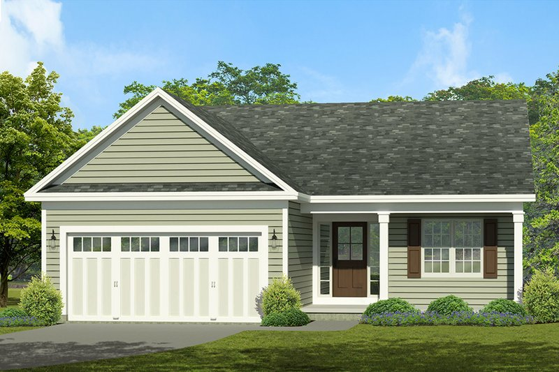 Architectural House Design - Ranch Exterior - Front Elevation Plan #1010-1