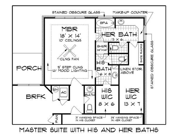 Tudor Floor Plan - Other Floor Plan Plan #45-372