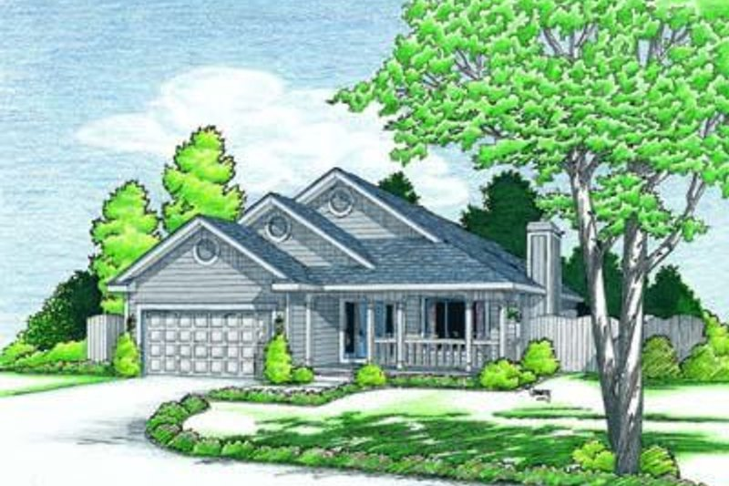 Traditional Exterior - Front Elevation Plan #20-423 - Houseplans.com
